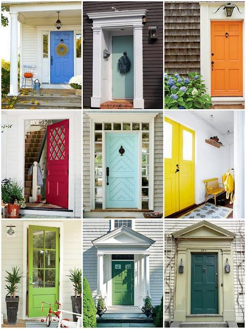 Painting your front door a fun, bold color can add to your home's curb appeal